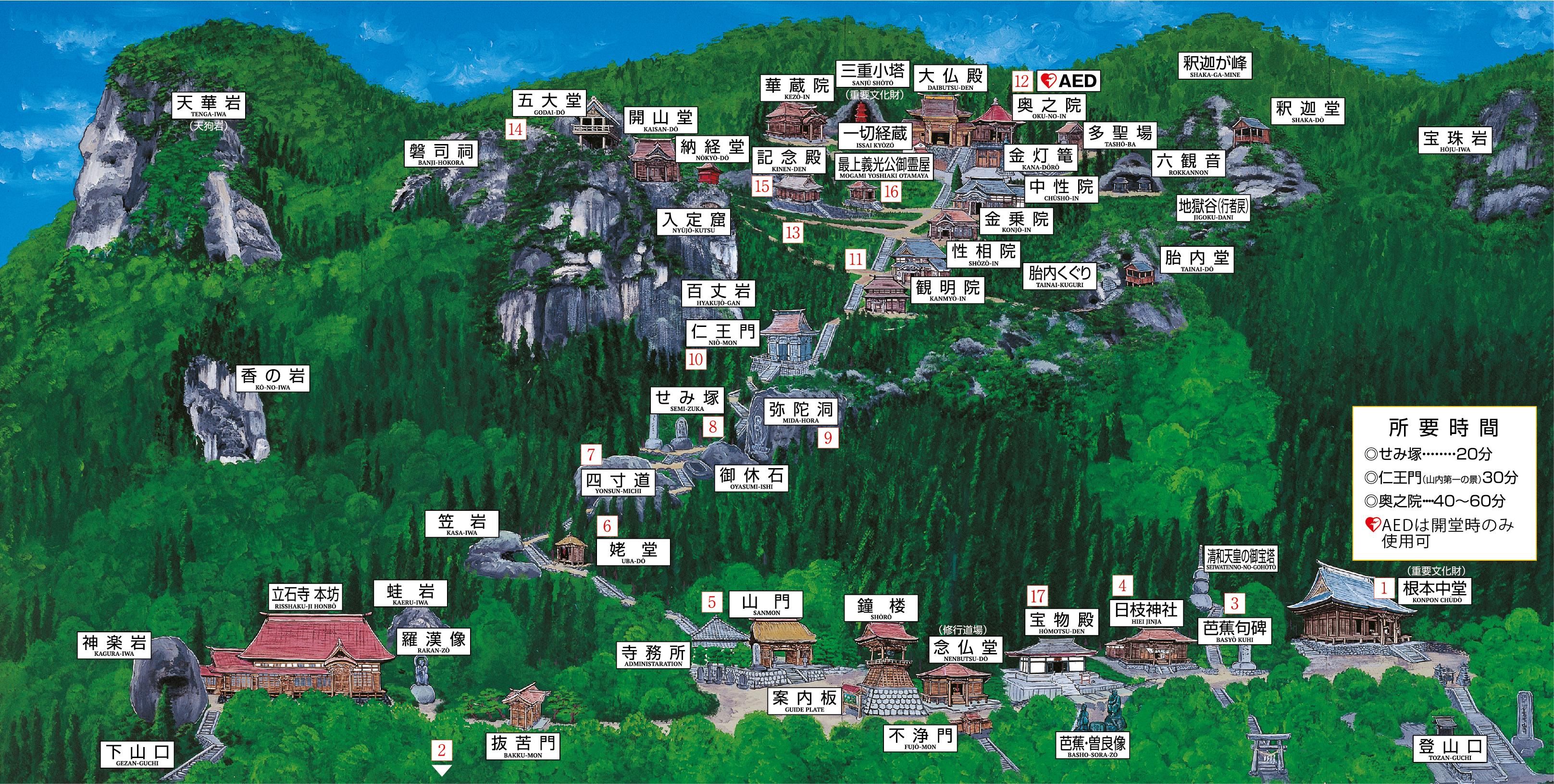 立石寺マップ